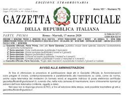 DECRETO CURA ITALIA          L. 17 marzo 2020, n. 18