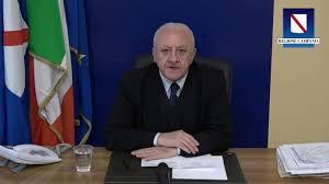 Dichiarazione del Presidente Vincenzo De Luca: